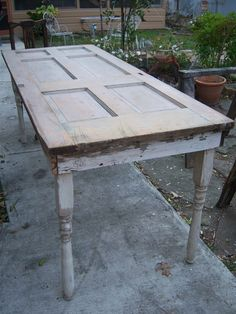 old doors made into tables | Old Is Better Than New - Projects Using Vintage Doors and Windows