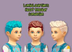 Sims 4 CC's - The Best: Heart Breaker Hair Converted for Boys by ColisWond...