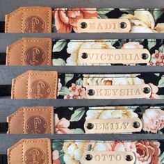 DSLR camera strapBlack Orange flower Camera Strap by CandyLeather