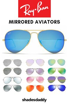 3f21ad468cd Mirror your style with Ray-Ban Aviator Mirror sunglasses. Ray-Ban Aviator  Sunglasses