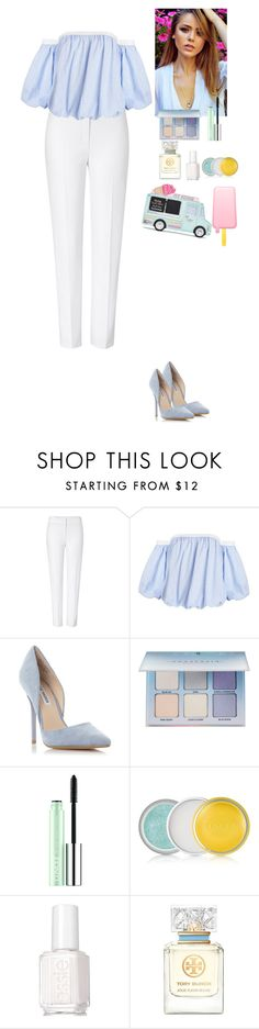 """Light blue"" by eliza-redkina ❤ liked on Polyvore featuring ESCADA, Steve Madden, Anastasia Beverly Hills, Clinique, Essie, Tory Burch, StreetStyle, outfit, like and look"