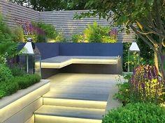 Back Garden Design, Modern Garden Design, Balcony Design, Patio Deck Designs, Minimalist Garden, Outdoor Chandelier, Composite Decking, Dream Garden, Garden Inspiration