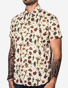 CAMISA GEOMETRIC COLOR 200115 - Hermoso Compadre Preppy Boys, Cool Outfits, Fashion Outfits, Men's Fashion, Surf Wear, Flower Shirt, Textiles, Summer Shirts, Printed Shirts
