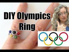 Make a DIY Stylized Olympics Logo Ring - YouTube