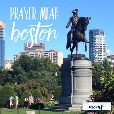 """Preparing a yummy """"Boston"""" meal and praying together as a family for this beautiful city! Kinds Of People, Statue Of Liberty, Boston, Prayers, Yummy Food, Meals, City, Beautiful, Statue Of Liberty Facts"""