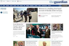 The Guardian - new homepage