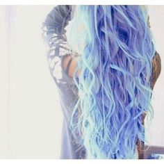 crystal and light blue hair Blue ❤ liked on Polyvore featuring beauty products, haircare, hair styling tools, hair, pictures, hair styles, hairstyles and people