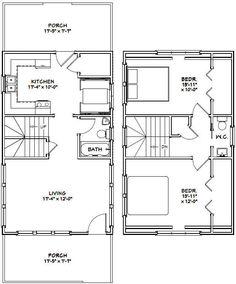 12x20 Tiny Houses PDF Floor Plans 452 sq by