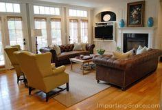 Living Room Swooning from @Richella Parham Parham  | ImpartingGrace.com