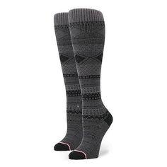 Stance Renegade Socks (120 CNY) ❤ liked on Polyvore featuring intimates, hosiery, socks, grey, stripe socks, gray socks, striped socks, elastic socks and grey socks