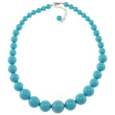 Pearlz Ocean Sterling Silver Turquoise Shell Journey Necklace (8-16 mm) - Overstock™ Shopping - Big Discounts on Pearlz Ocean Fashion Necklaces