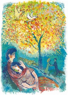 """The Lovers Dream (in the style of Marc Chagall)"" - John Myatt"