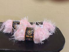 Fun Fur Soft Pink Lion Brand Yarn 2 1/2 Packages #LionBrand