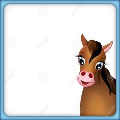 11084287-niedlichen-braunen-Pferd-in-leeren-Rahmen-mit-blauem-Rand-und-wei-em-Hintergrund-Illustration-Lizenzfreie-Bilder.jpg (1300×1300)