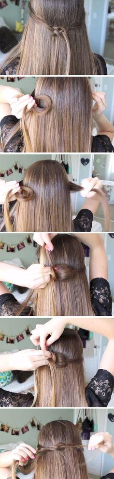 Infinity Knot | Quick and Easy Back to School Hairstyles for Teens