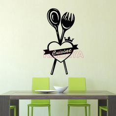 Aliexpress.com : Buy Stickers French Ma Cuisine Vinyl Wall Sticker Wallpaper Mural Wall Art Kitchen Tile Wall Decals Home Decor Decoration Poster from Reliable poster display suppliers on Kililaya