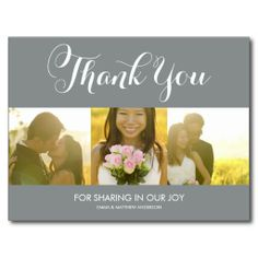 WHIMSICAL SCRIPT | WEDDING THANK YOU POSTCARD We have the best promotion for you and if you are interested in the related item or need more information reviews from the x customer who are own of them before please follow the link to see fully reviewsThis Deals          WHIMSICAL SCRI...