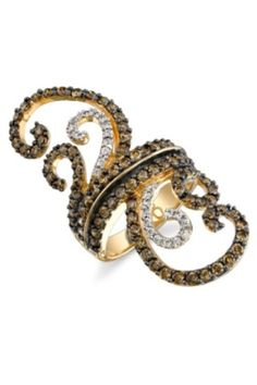 levian chocolate diamonds- Very cool ring. ANY LeVian chocolate diamond piece is my fantasy jewelry.....when we hit it rich. LOL