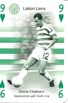 Lisbon Lions - Stevie Chalmers of Celtic. Association Football, Celtic Fc, Football Team, Glasgow, Cincinnati, Lions, The Past, Playing Cards, Soccer