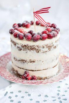 Cranberry, Orange, and Walnut Layer Cake - CountryLiving.com