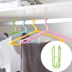 1PC Multifunction Foldable Plastic Travel Clothes Hanger Nonslip Protable Drying Rack Windproof 38*2.5*17.3cm