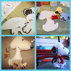 Eu Amo Artesanato: Snoopy de feltro