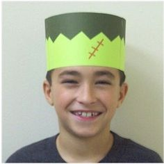FRANKENSTEIN CROWN This printable crown is a great start to a Halloween costume. Lots more Halloween crafts can be found onwww.freekidscrafts.com.