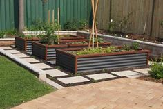Image result for timber sleeper and corrugated steel retaining wall