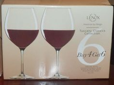 Lenox Tuscany Classics Crystal Red Wine Glass - Set of 4 - 831664 #Lenox