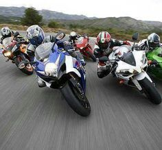Motorcycle sport bike love