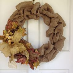 Pretty Fall wreath for your front door