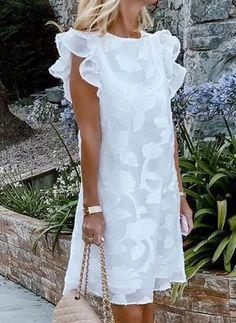 Floryday Dresses, Women's Fashion Dresses, Dresses For Sale, Casual Dresses, Summer Dresses, Dresses Online, Mode Shop, Cap Dress, Affordable Dresses