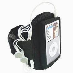 Mofun Brand New Black Neoprene Sports Gym/Jogging / Running/Ridding/Sporting Adjustable Strap Armband Case for the Apple iPod Classic 80GB / 120GB / 160GB + iPod Video 30GB / 60GB / 80GB