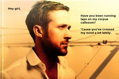 """Running laps on the Corpus Callosum of """"Neuroscientist Ryan Gosling"""" By Sara, 13 Jan 12. (I don't always collect memes, but when I do, they're neuroscience-related.)"""