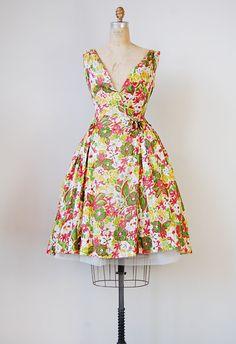 vintage 1950s dress   SWEET LIKE CITRUS DRESS