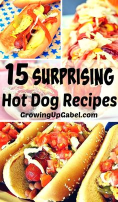 Is your family tired of eating hot dogs? Jazz up one summer's staple foods! Set up a fun hot dog bar for your next barbecue and use these hot dog recipes for inspiration!