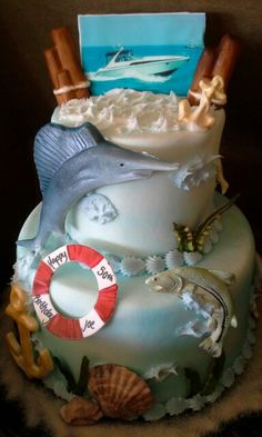 Blue MarlinFishermen cake ideas Pinterest Fisherman cake