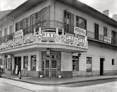 "Jax Beer--New Orleans, Louisiana, circa 1937. ""Tortorich Restaurant, Royal Street."" 8x10 inch acetate negative by Frances Benjamin Johnston. View full size. www.shorpy.com"