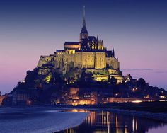 Mont St. Michel, Normandy, France. TAKE ME THERE NOW.