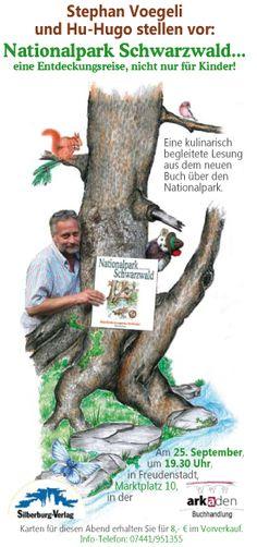 Stephan Voegeli und Hu-Hugo stellen Ihr Kinderbuch über den Nationalpark Schwarzwald am 25.9.2015 vor.