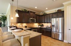 Traditional Kitchen with Flush, Simple granite counters, Dover Single-Bulb Indoor Pendant with Bell-Shaped Glass Shade