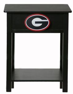 Uga Georgia Bulldogs Painted Wood End Table Night Stand Georgiabulldogs