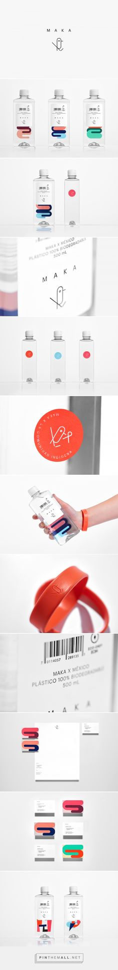 Maka drinking water packaging design by Anagrama - https://www.packagingoftheworld.com/2018/03/maka.html