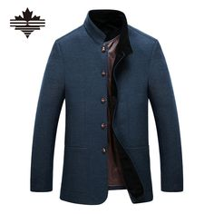 Find More Wool & Blends Information about 2016 Casual Men's Woolen Coat Single Breasted Middle Aged Men Wool Jackets And Coats Stand Collar  Autumn Winter Coat Outdoor,High Quality coat wool,China coat chain Suppliers, Cheap coat jacket men from Alison'Store on Aliexpress.com