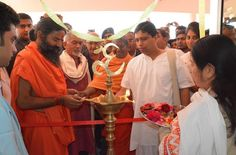 #Yoga guru Baba Ramdev  inaugurating research centres for #dentistry and #panchkarma #therapy in #Yog gram