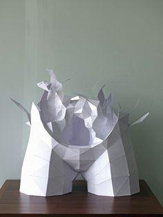 Torso paper artist