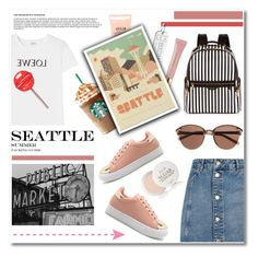 """""""Girly in Seattle"""" by soivana ❤ liked on Polyvore featuring Henri Bendel, Witchery, Loewe, Topshop, AERIN, Jet Set Candy, Stila, Herb Lester, Fresh and Pink"""