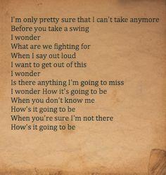 third eye blind, how's it going to be lyrics -