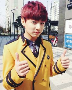 Jungkook~ <3 bby in his school uniform aw ;w;