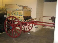 B2414 Bread delivery cart, full size, 'O'Neill Bakers', horsedrawn, owned by O'Neill Brothers Bakery, Bankstown, maker unknown, 1945-1950 - Powerhouse Museum Collection